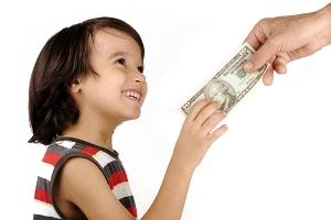 پول تو جیبی دادن به کودک
